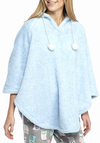 PJ Couture Blue Hooded Poncho