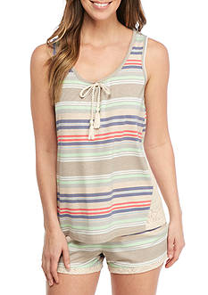 PJ Couture Boho Dreams Stripe Pajama Set