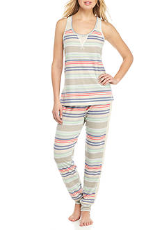 PJ Couture Sporty Crochet Pajama Set - 81912