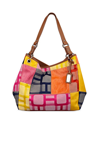 Nine West Vegas Signs Patchwork Large Open Tote