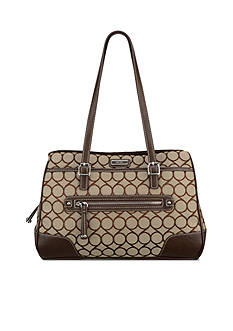 Nine West 9s Jacquard Large Satchel