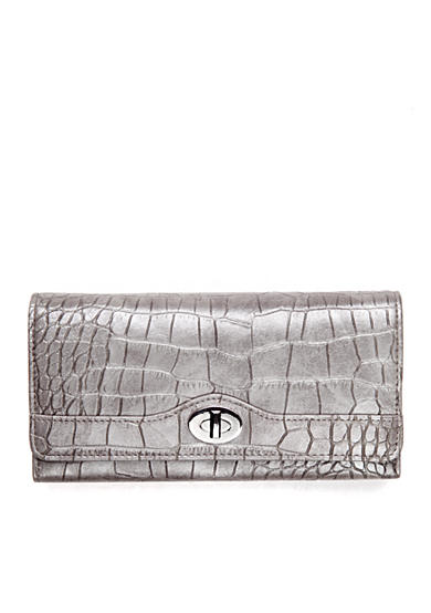New Directions® Croco Filemaster Clutch Wallet