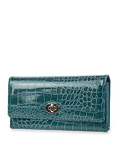 New Directions® Cactus Croco Filemaster Clutch with Safekeeper