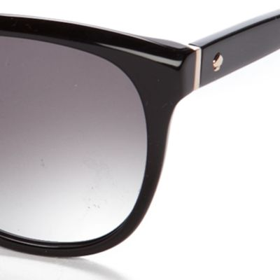 Fashion Sunglasses: Black kate spade new york Bayleigh Sunglasses