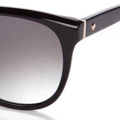 Retro Sunglasses: Black kate spade new york Bayleigh Sunglasses
