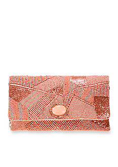 Mary Frances Pink Gold Clutch