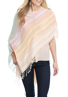 Echo Design™ Textured Striped Poncho
