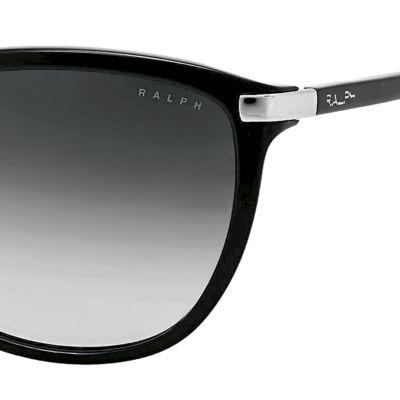 Handbags & Accessories: Ralph By Ralph Lauren Designer Sunglasses: Black Ralph by Ralph Lauren Plastic Cateye Sunglasses