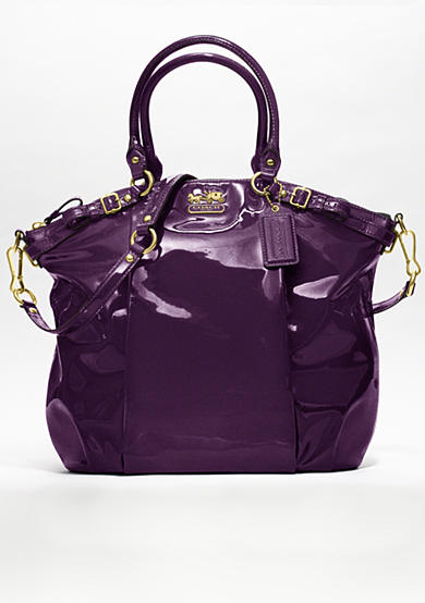 COACH MADISON PATENT LINDSEY SATCHEL<br>