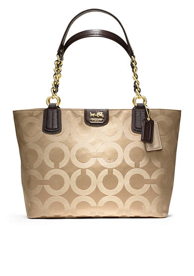 COACH MADISON OP ART SATEEN TOTE