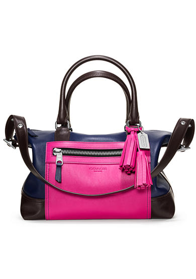 COACH LEGACY COLORBLOCK LEATHER MOLLY SATCHEL