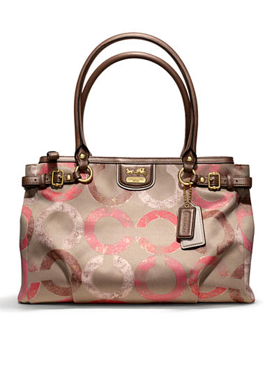COACH MADISON METALLIC GESSO OP ART KARA CARRYALL