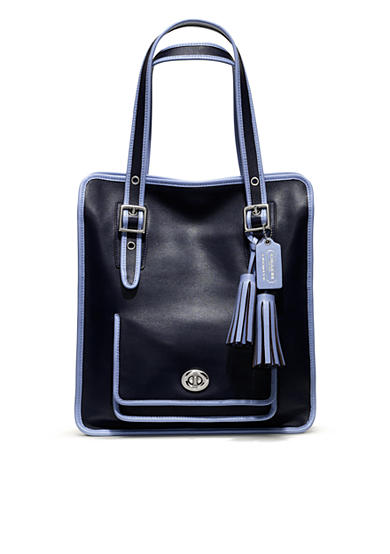 COACH LEGACY ARCHIVAL 2-TONE LEATHER MAGAZINE TOTE