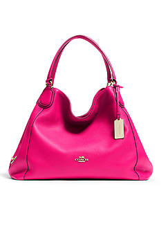 COACH LEATHER EDIE SHOULDER BAG
