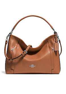 COACH PEBBLE LEATHER SCOUT HOBO