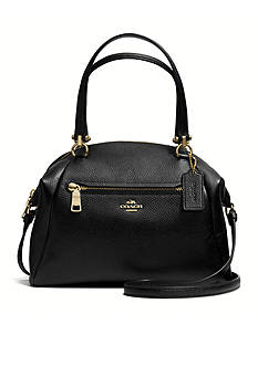 COACH Pebble Leather Prairie Satchel