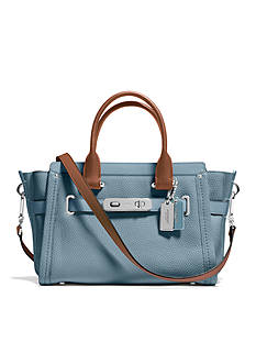 COACH COLORBLOCK LEATHER SWAGGER 27 CARRYALL