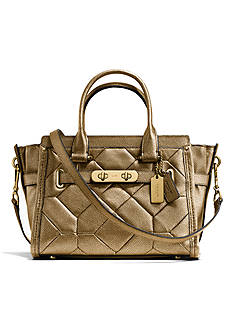 COACH METALLIC PATCHWORK LEATHER SWAGGER 27 CARRYALL