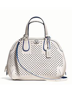 COACH PERFORATED LEATHER PRINCE STREET SATCHEL