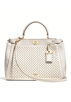 COACH STUDDED LEATHER GRAMERCY SATCHEL