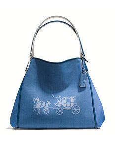 COACH CANVAS HORSE AND CARRIAGE EDIE SHOULDER BAG