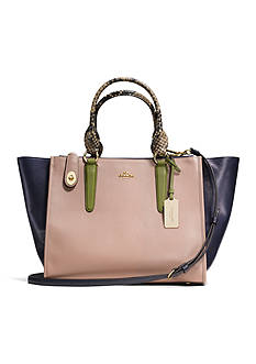 COACH COLORBLOCK LEATHER CROSBY CARRYALL