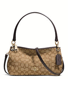 COACH SIGNATURE CANVAS CHARLEY CROSSBODY