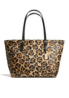 COACH WILD BEAST LEATHER TURNLOCK TOTE