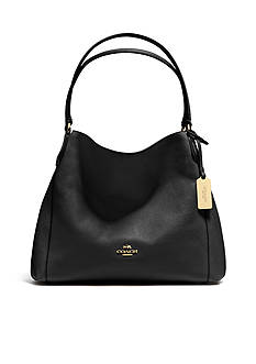 COACH REFINED PEBBLE LEATHER EDIE 31 SHOULDER BAG
