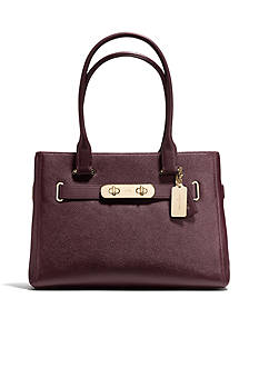 COACH PEBBLE LEATHER SWAGGER CARRYALL