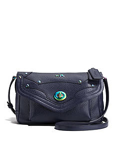 COACH OIL SLICK RIVETS LEATHER RHYDER CROSSBODY