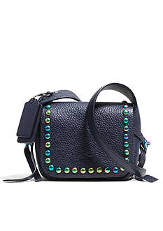 COACH OIL SLICK RIVETS LEATHER DAKOTAH 14 CROSSBODY