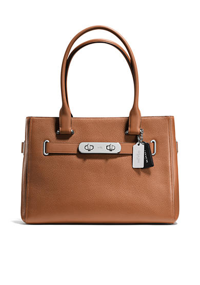 COACH COLORBLOCK LEATHER SWAGGER CARRYALL