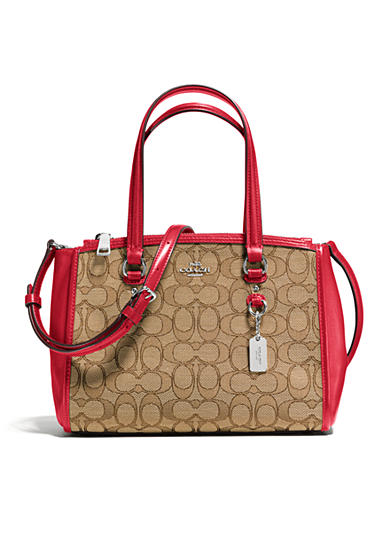 COACH SIGNATURE JACQUARD STANTON 26 CARRYALL