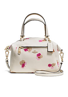 COACH FLORAL PRINT LEATHER PRAIRIE SATCHEL