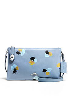 COACH FLORAL PRINT PEBBLE LEATHER CROSBY CROSSBODY