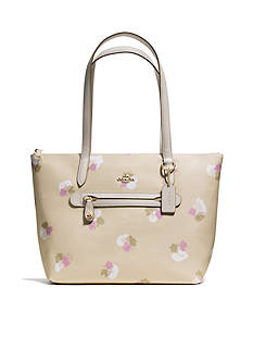 COACH FLORAL PRINT COATED CANVAS TAYLOR TOTE