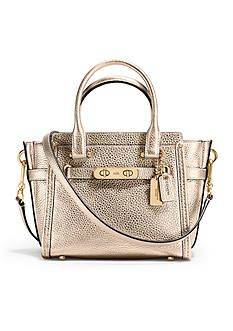 COACH COACH SWAGGER 21 CARRYALL IN PEBBLE LEATHER