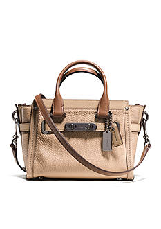 COACH COLORBLOCK LEATHER SWAGGER 20 SATCHEL