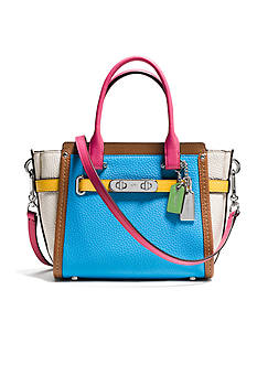 COACH COACH SWAGGER 21 CARRYALL IN RAINBOW COLORBLOCK LEATHER