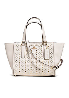 COACH COACH MINI CROSSBODY CARRYALL IN FLORAL RIVETS LEATHER