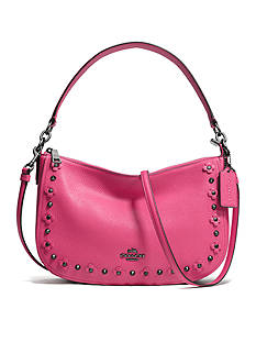 COACH CHELSEA CROSSBODY IN FLORAL RIVETS LEATHER