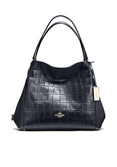 COACH COACH EDIE SHOULDER BAG 31 IN CROC EMBOSSED LEATHER