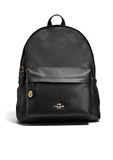 COACH CAMPUS BACKPACK PEBBLE LEATHER