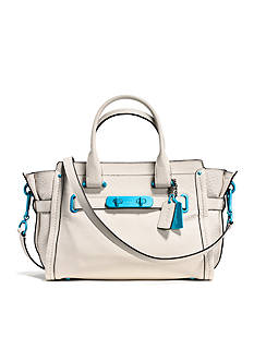COACH SOFT SWAGGER 27 CARRYALL WITH CARABINER HARDWARE IN GRAIN LEATHER