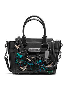 COACH COACH SWAGGER 21 CARRYALL WITH BUTTERFLY APPLIQUE IN GLOVETANNED LEATHER