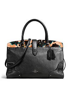 COACH Mercer Satchel in Printed Hair Calf