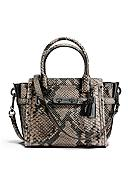 COACH Swagger 21 Carryall In Snake-Embossed