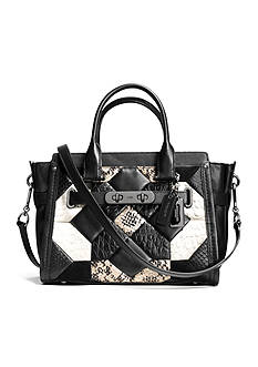 COACH CANYON QUILT COACH SWAGGER 27 IN EXOTIC EMBOSSED LEATHER