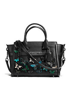 COACH BUTTERFLY APPLIQUE COACH SWAGGER 27 CARRYALL IN GLOVETANNED LEATHER